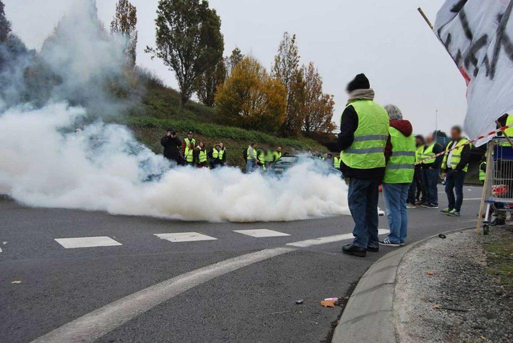 Блокада близо до Нант на 17 ноември