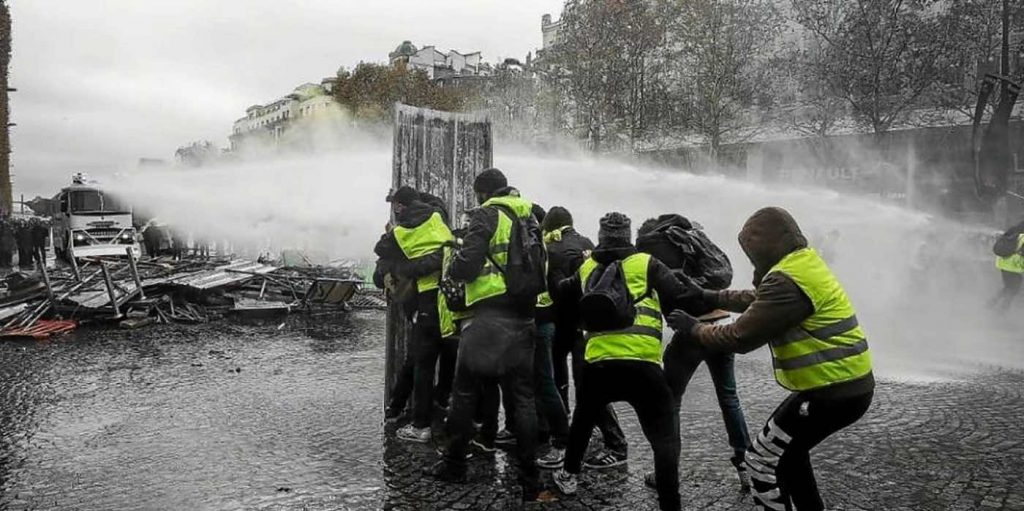water cannons